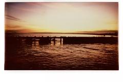 Sunset across the River Blyth